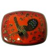 Lacquer Box Kholuy Grouse, red - Kholuy, Lacquer Box
