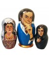 Nesting doll by customer specification portrait 3 pcs. (3 portraits by photos) - By customer specification, Nesting doll