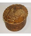 birch bark products box Oval vertical, the Wood-grouse, 11x8x3. - Birch bark products, Box