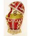 Copy Of Faberge JD0416-2 Egg easter &quot-With an arrow&quot- musical red, 8. - Copy of Faberge