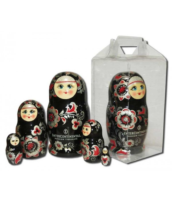 Nesting doll 3 pcs. with a flas card, with logo under the individual sketch - 3 pcs., Nesting doll