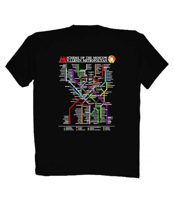 T-shirt L The Moscow Metro, size L - L, T-shirt