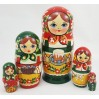 Nesting doll Traditional 5 seats Trad. with the cake for Easter