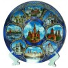 Plate 20-KN2-19 porcelain collage #2 Moscow St.Basil Cathedral