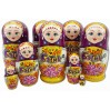 Nesting doll by customer specification 5 pcs., with the logo of FP PREIS