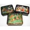 Lacquer Box Palekh Russian fairy tale in assortiment (12h10h4 or 13x9x4.)