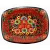 Lacquer Box Mstera Flowers, red background