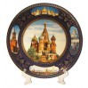 Plate porcelain (4K) Collage. St. Basil Cathedrak 20. + a support in packing