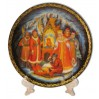Plate 20-25 Palekh, Fairy tale on tsar Saltane 20.+a support in packing