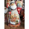 New Year and Christmas carved wooden toy Santa Claus, miniature Moscow, 33